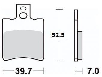 Bromsbelägg (LPI) H52.5mm x B39.7mm
