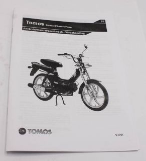 Användarmanual Tomos Flexer, Standard, Quadro