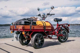 Elmoped MGB Delivery - Flakmoped