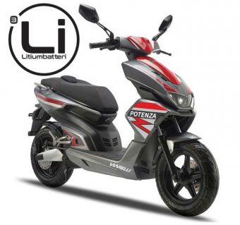Viarelli Potenza Grå 45km/h electric Lithium Bosch (Euro 5 klass 1 moped)